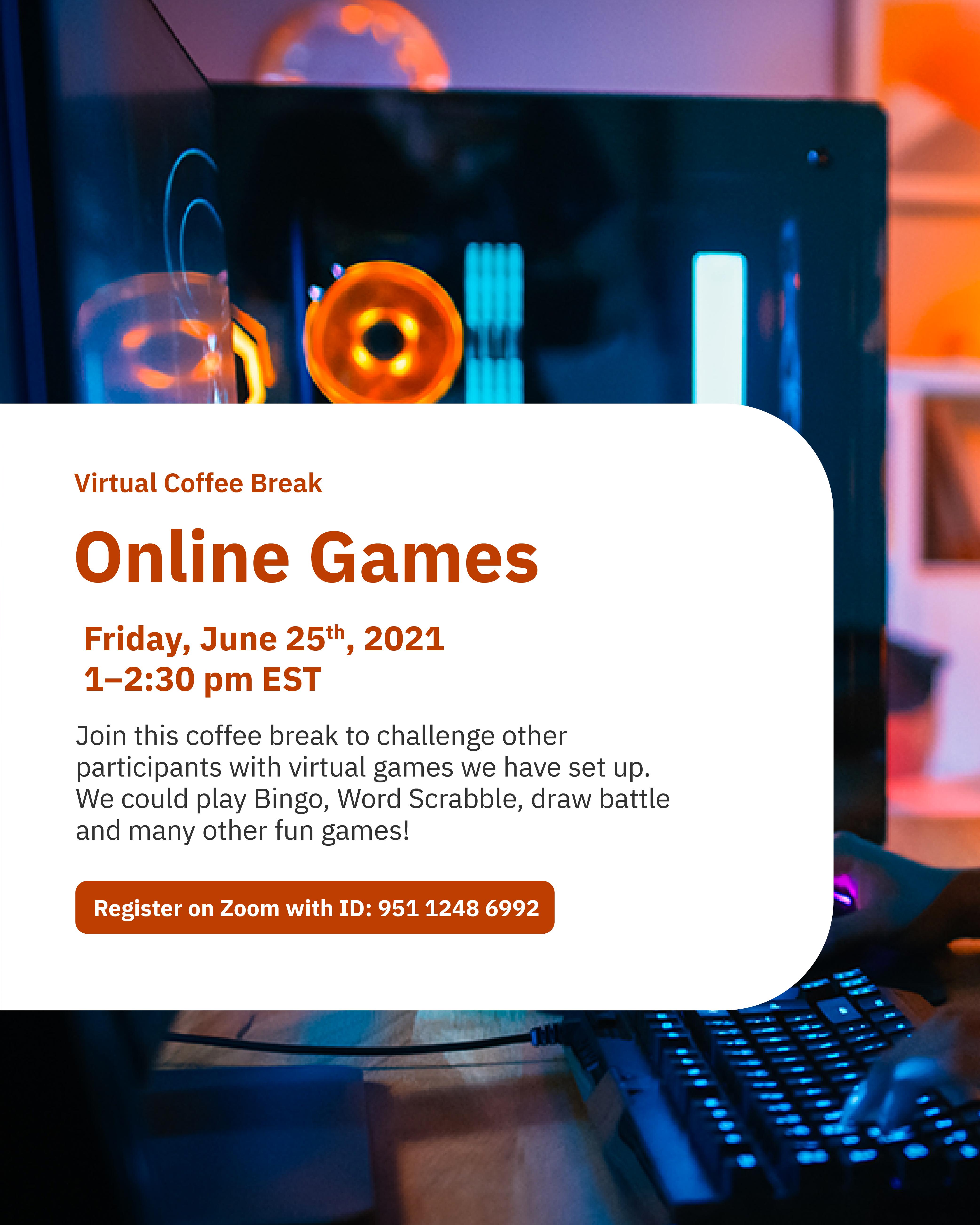 Virtual Coffee Break: Online Games @ Zoom - York International