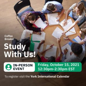 In-Person Coffee Break: Study Session @ 280 N York Lanes