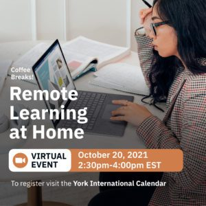 Virtual Coffee Break: Remote Learning at Home @ Zoom