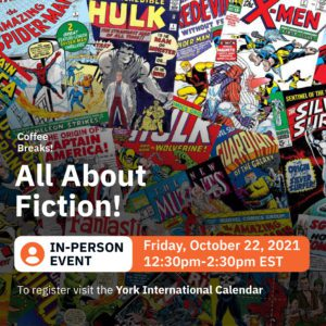 In-Person Coffee Break: All About Fiction! @ 280 N York Lanes