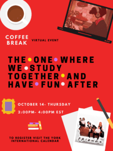 Virtual Coffee Break: The One Where We Study Together and Have Fun After @ Zoom