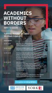 Academics without Borders Info Session at York @ https://yorku.zoom.us/meeting/register/tJUofuGsrDMsH9DCPdprSFepJY8JPGxCylM7