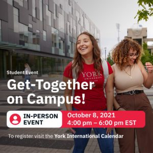 York International Get-Together on Campus @ York University Subway Station (Lawn)