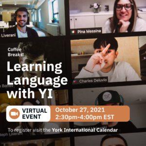 Virtual Coffee Break: Learning Language with YI @ Zoom